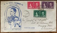 NEWFOUNDLAND 1937 #s 230-232 FDC CORONATION ISSUE MAY 12th