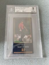 TIGER WOODS~1997/98 CHAMPIONS GOLF MASTERS COLLECTION BGS 9 ROOKIE RC