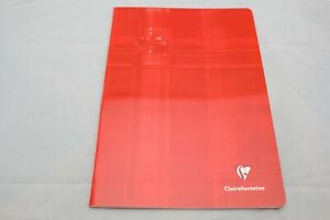 """Clairefontaine Staplebound Notebook  6 1/2"""" X 8 1/4"""" French Ruled Red"""