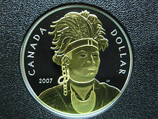 2007 200th Anniversary of Thayendanegea Canadian Gold Plated Silver Coin