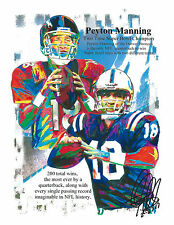 Peyton Manning, Colts, Broncos, Quarterback, Football, Sports 8.5x11 PRINT w/COA