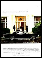 1965 LINCOLN CONTINENTAL Black Sedan Photo AD