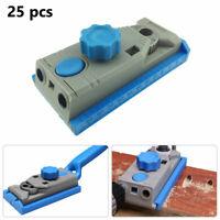 25pcs Genius Woodworking Pocket Hole Jig Kit Set 9.5mm Drill Guide Kreg Pilot