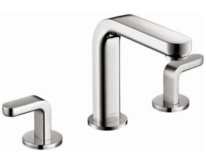 Hansgrohe 31067821 Metris S Widespread Bathroom Sink Faucet Brushed Nickel - New