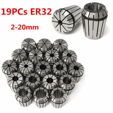 19Pcs ER32 Precision Spring Collet Set CNC Milling Lathe Tool Chuck 2-20MM US