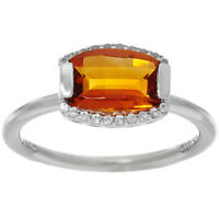 Jane Taylor Barrel Cut Madeira Citrine Sterling Silver Ring Size 6 QVC $109