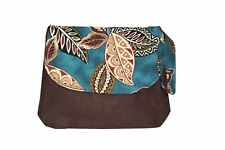 Canvas Medium Size Striped Shoulder Bag Purse Canvas Striped