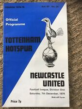 TOTTENHAM v Newcastle United PROGRAMME 7th December 1974 No24 Vol67