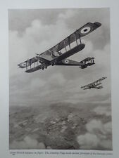 WW1 HANDLEY PAGE BOMBERS; ANTI AIRCRAFT GUN HOME DEFENCE (1 SHEET, BOTH SIDES)