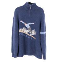 Aallard De Megeve Womens 100% Cashmere Ski Sweater Size XXL Super Soft Italy