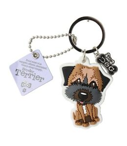 Border Terrier 3D Key Ring Bag Charm Tag Dog Lovers Gift Stocking Filler