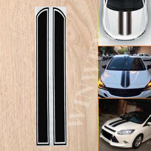 Car Van Racing Body Stripe Pinstripe Hood Side Decals Vinyl Stickers Black UK