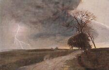Antike Postkarte Wiener Kunst Gewitterregen Anton Filkuka gem.