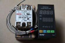Dual F/C 48WX96HX80L PID Temperature Controller TA6-SNR+ K thermocouple+ 40A SSR