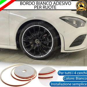 CONTORNO BIANCO BORDO CERCHI IN LEGA ADESIVO MINI ONE COOPER R56 R50 F55 F56
