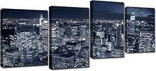 Quadri Moderni Stampa su Tela 140x75 4 pezzi NEW YORK SKYLINE Arredo Arte Casa