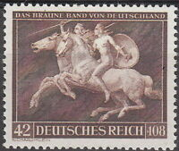 Stamp Germany Mi 780 1941 WW2 Brown Ribbon Race Munich Naked Lady on Horse MNH