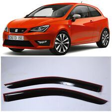 SE10608 Window Visors Sun Guard Vent Wide Deflectors For Seat Ibiza 3d 2008-2016