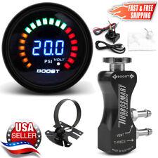 TurboSmart In-Cabin Boost Controller 0106-1002 Black + 52mm Psi Boost Gauge +Pod