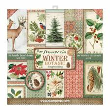 Stamperia Winter Botanic 12 x 12 Paper Pack - NEW RELEASE Deer Flowers Flora