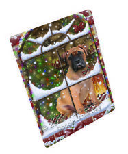 Please Come Home For Christmas Bullmastiff Dog Woven Throw Sherpa Blanket T149
