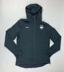 Nike UConn Huskies Thermaflex Showtime Full Zip Hoodie Men's M Black AT5347