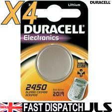 4 DL2450 DURACELL Lithium Batteries CR2450 2450 ECR2450