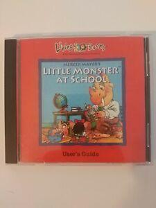 Little Monster at School Living Books Mercer Mayer  - CD- ROM User's Guide Nice