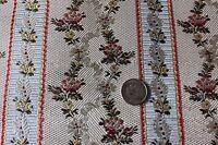 "Antique French 19thC Lyon Silk Brocade Sample Fabric~Roses &Ribbons~20""X11""Dolls"