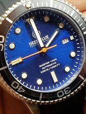 NEW DEEP BLUE MASTER 1000/300FT AUTOMATIC BLACK/ BEZEL BLUE DIAL