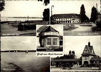 BAD SAAROW Brandenburg DDR Mehrbild-AK um 1960 ua. Bahnhof, Scharmützelsee uvm.