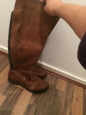 Brand New Brown Leather Knee High Boots Moda In Pelle Size 5