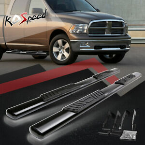 "5"" (OVAL TUBE) Step Bar Running Boards for 02-09 Dodge Ram 1500-3500 Crew Cab"
