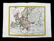 1828 VAUGONDY-DELAMARCHE: rare map of EUROPEAN EMPIRE, EUROPE, MALTA, ICELAND...