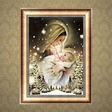 DIY 5D Diamond Woman and Baby Painting Embroidery Cross Stitch Crafts Home Decor