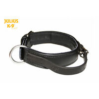 Julius-K9 ECO Leather Dog Collar with Handle Hand-Sewn Strong Adjustable
