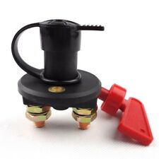 Car Truck Boat Battery Cut Off Disconnect Master Kill Switch with Removable Key