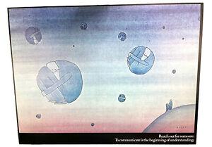 Rare original Jean-Michel Folon poster for AT&T