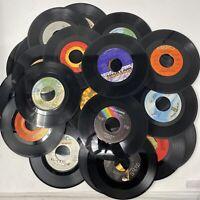 "Vinyl Records Lot Of 35 45 rpm 7"" Jukebox Pop Rock R&B Country Arts Crafts"