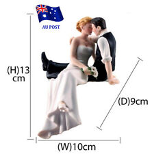 Bride and Groom Couple Wedding Cake Topper Love Favors Resin Figurine Decor EA