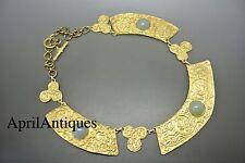 VINTAGE Francese Museo Riproduzione di bizantina/antica collana in vetro verde