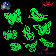 Glow In The Dark Butterfly Stickers Decal Home Wall Baby Nursery Childs Room 8pc
