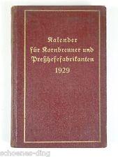 Kalender für Kornbrenner und Preßhefefabrikanten 1929