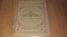 Vintage Cross Stitch Sampler - True Love Is A Flower That Blooms With Age