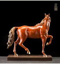 19'' top brass copper fine workmanship home decor auspicious animal horse statue