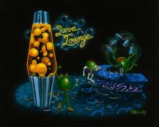 "Michael Godard-""LAVA LOUNGE"" Martini-Olive-Cigar-Retro-Las Vegas-Art-G Edition*"