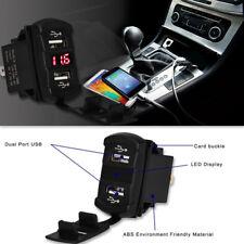 New listing Waterproof Car Charger Voltmeter Power Dual Usb Socket Charging Power Adapter