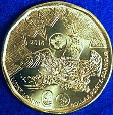 2016 Brilliantly Uncirulated Rio Olympics Canadain Lucky Loonie ID #82B