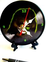 KISS- PETER CRISS - 5 INCH QUARTZ DESKTOP CLOCK-/ STAND / GIFT BOX -MANCAVE NEW
