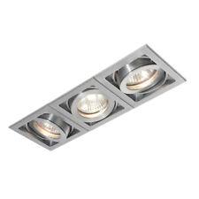 SAXBY XENO 3 Way Slim Profile Recessed GU10 Adjustable Aluminium Boxed Downlight